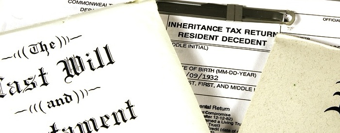Two Wills documents with an Estate Tax form.